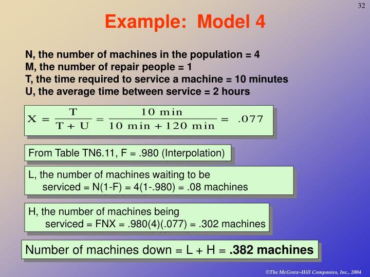 Example:  Model 4