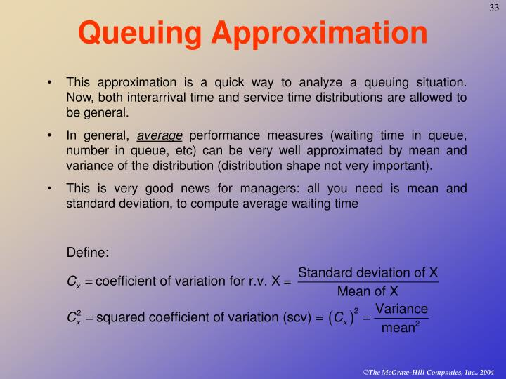 Queuing Approximation