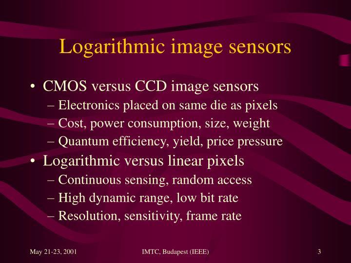 Logarithmic image sensors