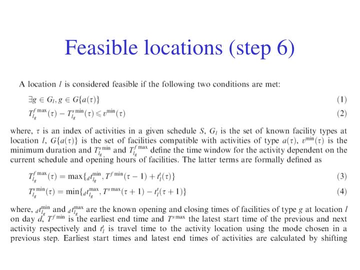 Feasible locations (step 6)