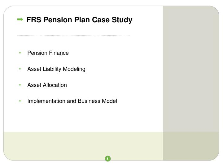 FRS Pension Plan Case Study