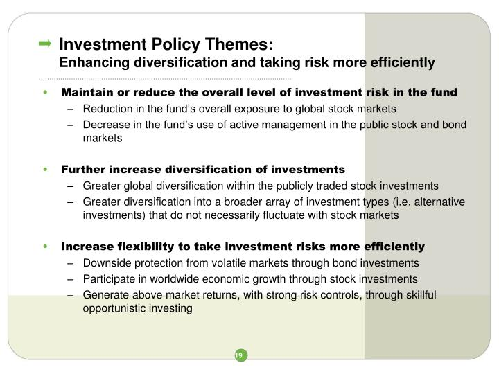 Investment Policy Themes: