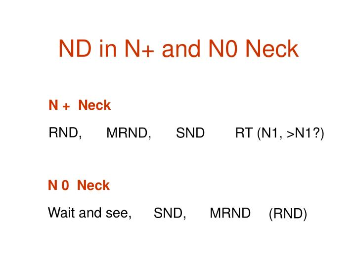 ND in N+ and N0 Neck