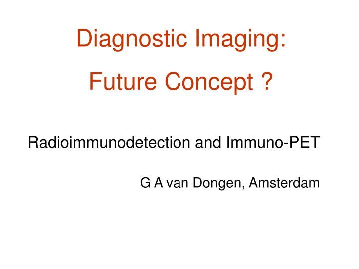 Diagnostic Imaging: