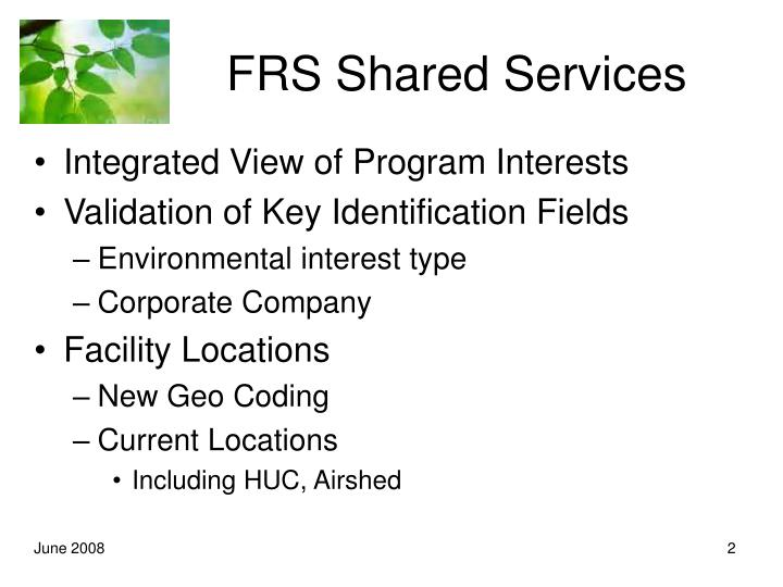 Frs shared services