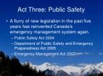 act three public safety