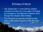echoes of terror
