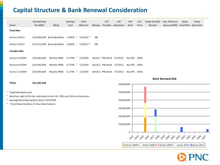 Capital Structure & Bank Renewal Consideration