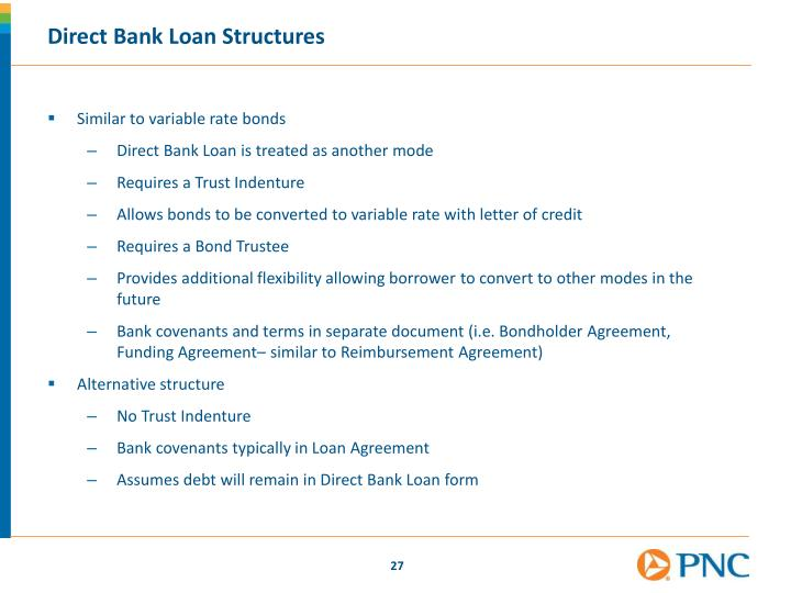 Direct Bank Loan Structures
