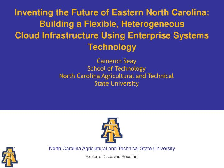 Inventing the Future of Eastern North Carolina: