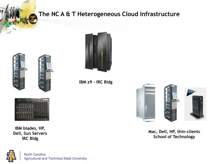 The NC A & T Heterogeneous Cloud Infrastructure