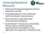 increasing operational efficiencies