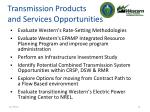 transmission products and services opportunities