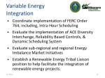 variable energy integration