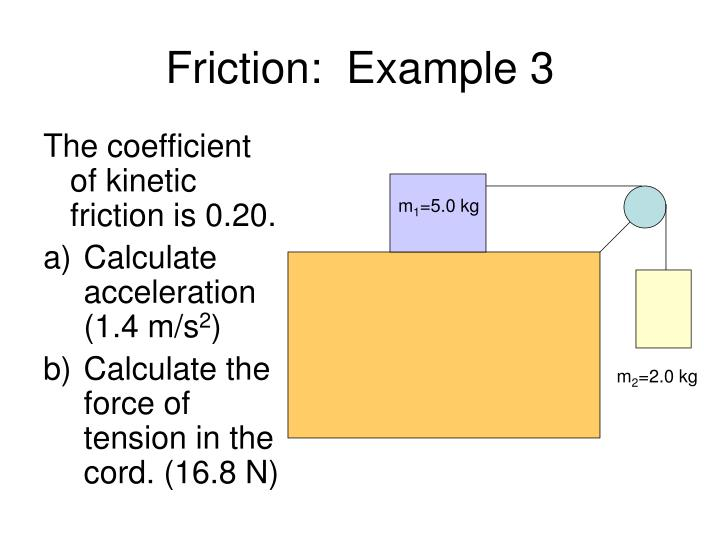 Friction:  Example 3