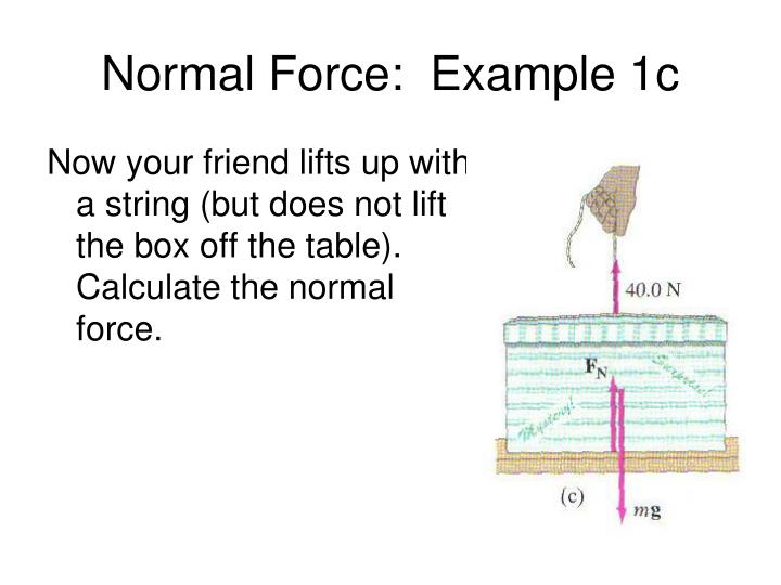 Normal Force:  Example 1c