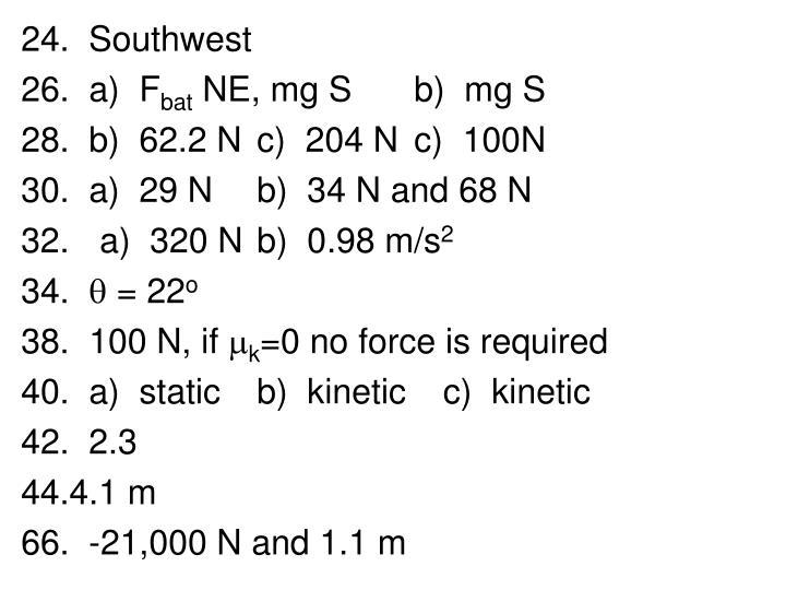 24.  Southwest