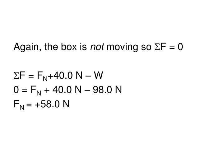 Again, the box is