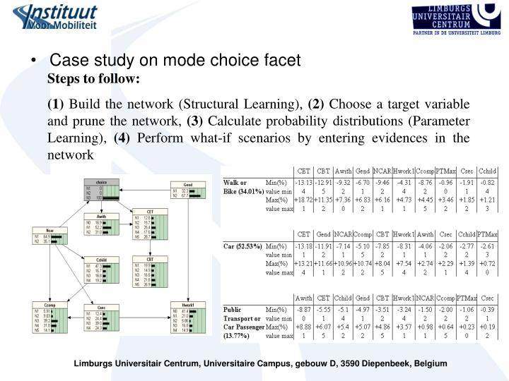 Case study on mode choice facet
