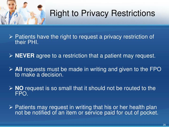 Right to Privacy Restrictions
