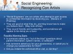 social engineering recognizing con artists