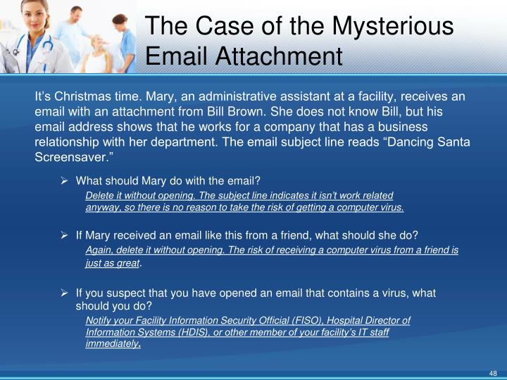 The Case of the Mysterious Email Attachment