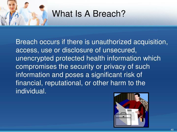 What Is A Breach?