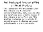 full packaged product fpp or retail product1