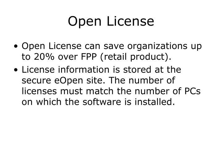 Open License