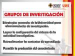 grupos de investigaci n