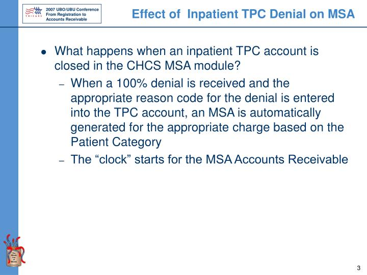 Effect of  Inpatient TPC Denial on MSA