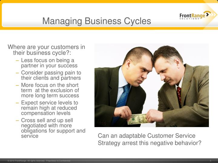 Managing Business Cycles