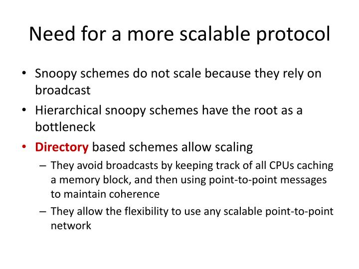 Need for a more scalable protocol