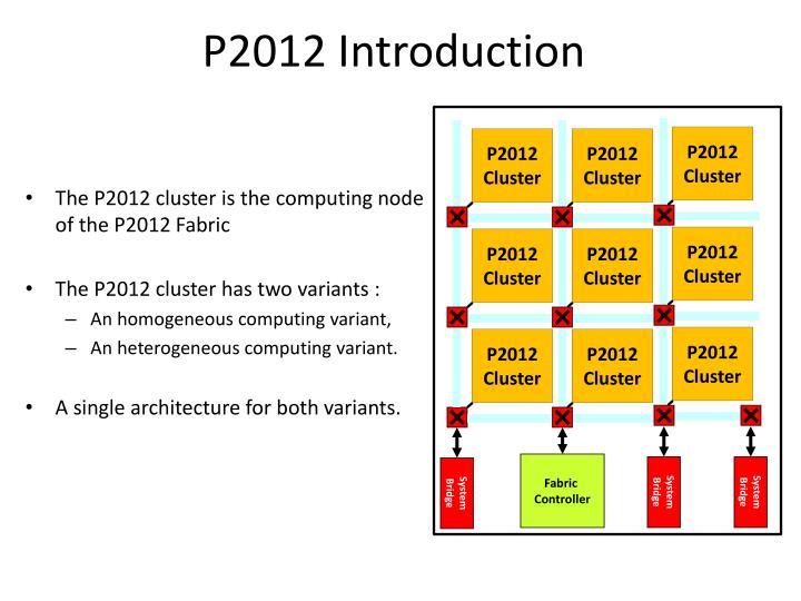 P2012 Introduction