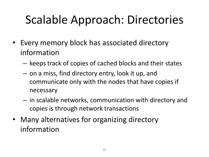 Scalable Approach: Directories