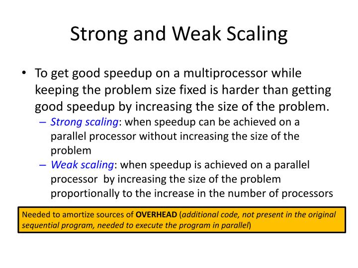 Strong and Weak Scaling