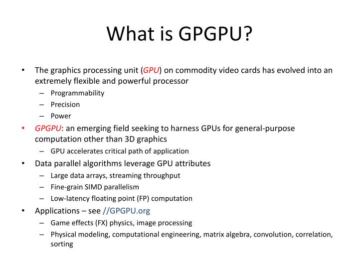 What is GPGPU?
