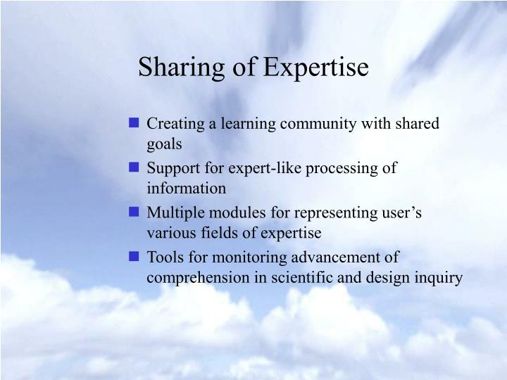 Sharing of Expertise