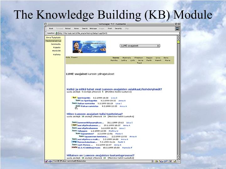 The Knowledge Building (KB) Module