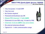 about frs f amily r adio s ervice radios no license required