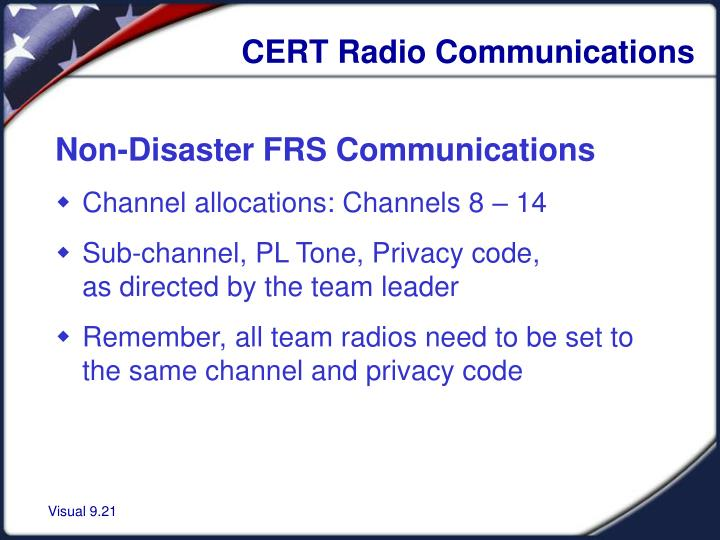 CERT Radio Communications