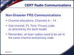cert radio communications