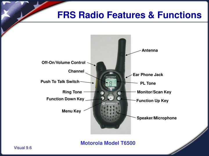 FRS Radio Features & Functions