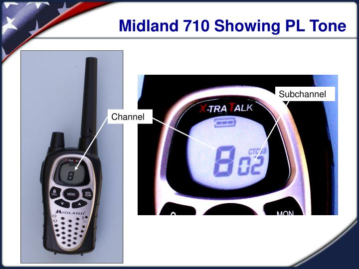 Midland 710 Showing PL Tone