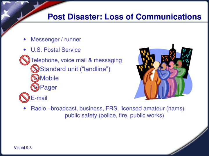 Post Disaster: Loss of Communications
