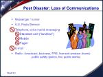 post disaster loss of communications