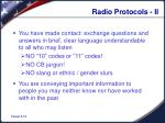 radio protocols ii