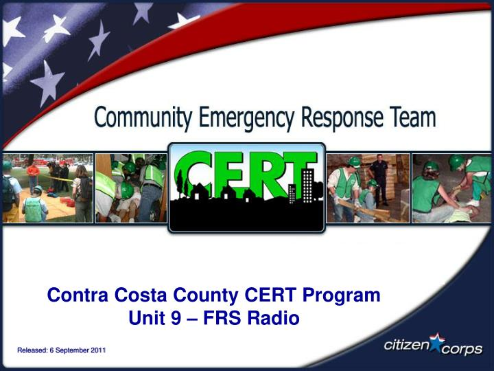 Contra Costa County CERT Program