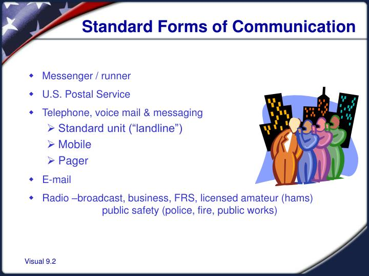 Standard forms of communication