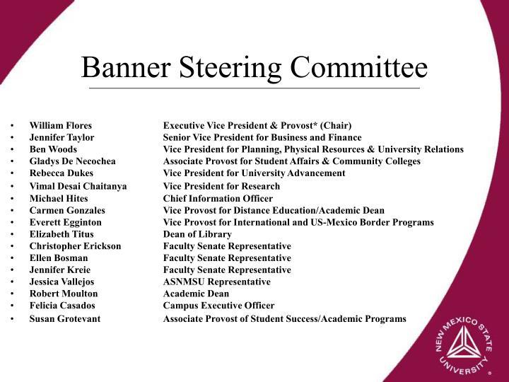 Banner Steering Committee